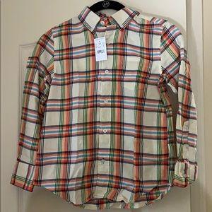 Brand new J Crew crewcuts size 8 flannel shirt
